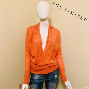 NEW - The Limited - Merino Wool Faux Wrap Blouse